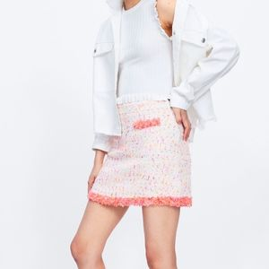 Zara Mini Skirt Fray Trim
